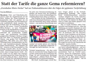 Artikel Rhein Neckar Zeitung 18.10.2012